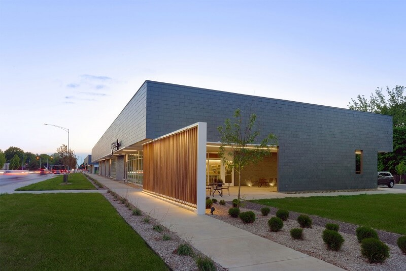 modern architecture slate