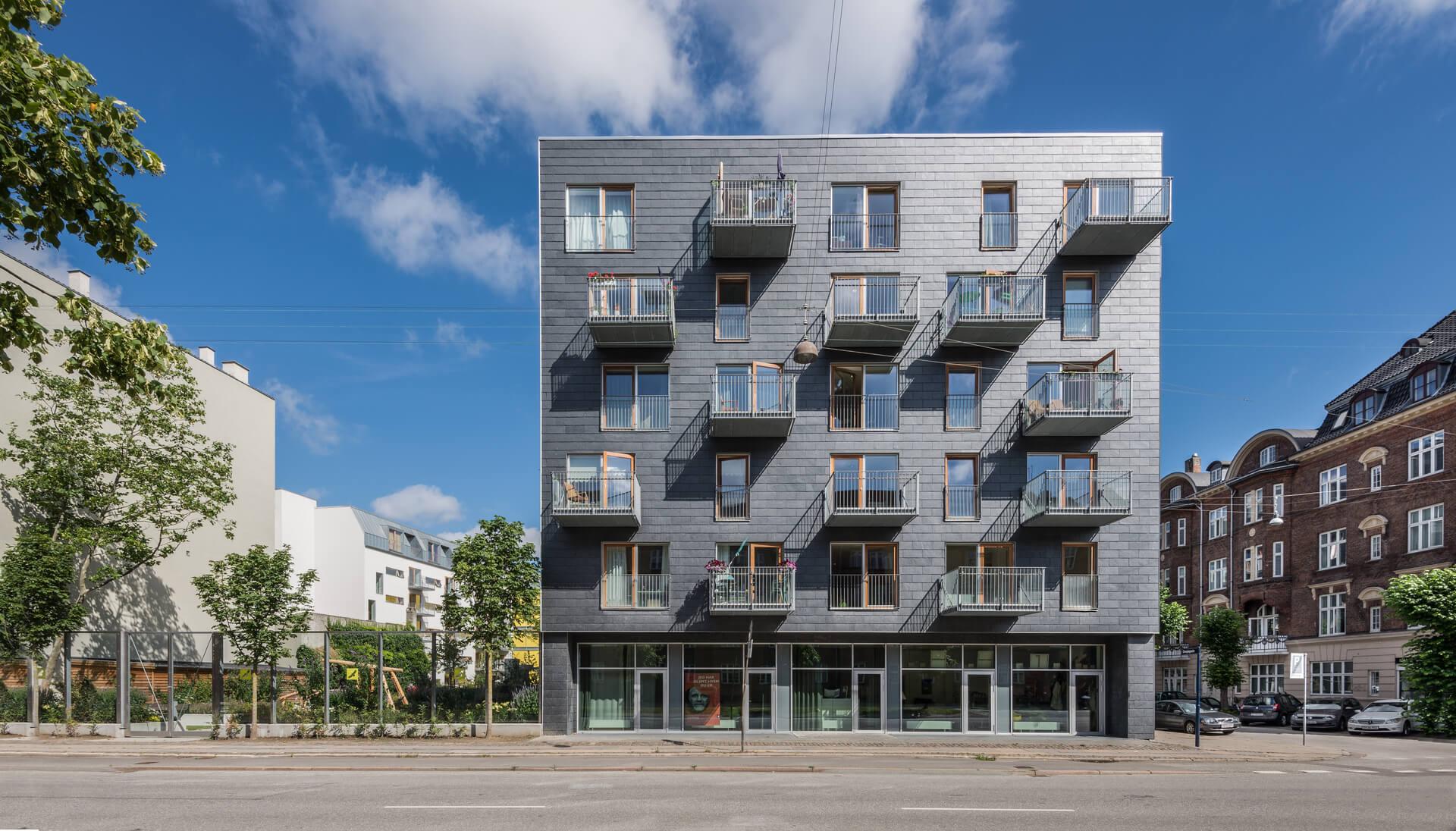 Danish slate siding building
