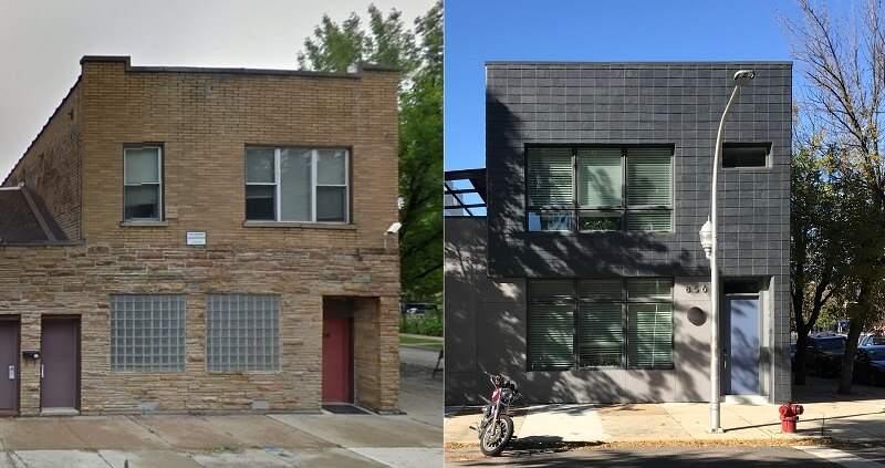 before and after facade renovation